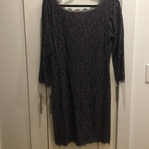 DVF lace dress short